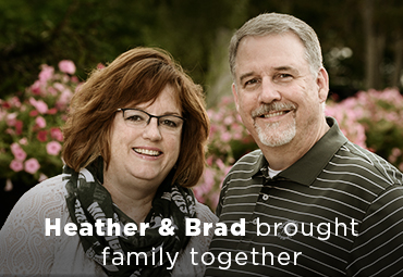 Heather and Brad brought family together