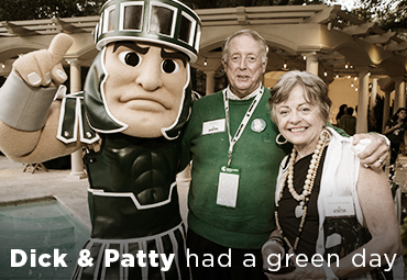 Dick and Patty had a green day