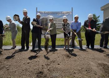 Groundbreaking for MSU Bio Engineering Facility.