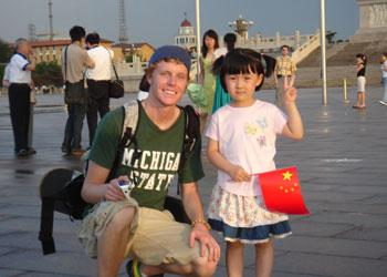 Study abroad student in China