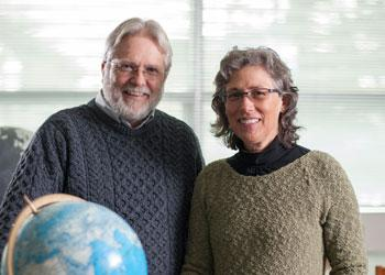 Professor Shawn Riley and Shari Gregory