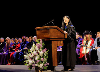 Okhee Lee-Salwen addresses graduates