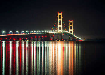 Photo of Mackinac Bridge in Northern Michigan