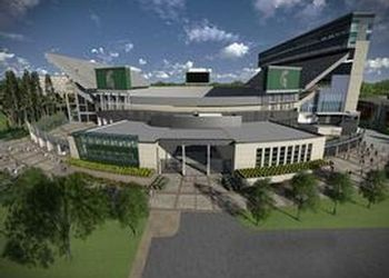 An artist's rendering of the addition underway at Spartan Stadium