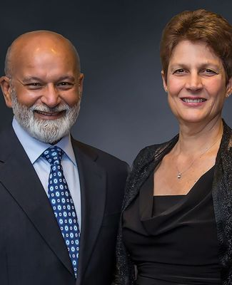 A formal portrait of Shashi and Margaret Gupta