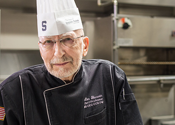 Endowed Chef Allan Sherwin's professional journey taught him how to be a leader, mentor, and teacher—lessons which will undoubtedly echo on through his student's lives and careers.
